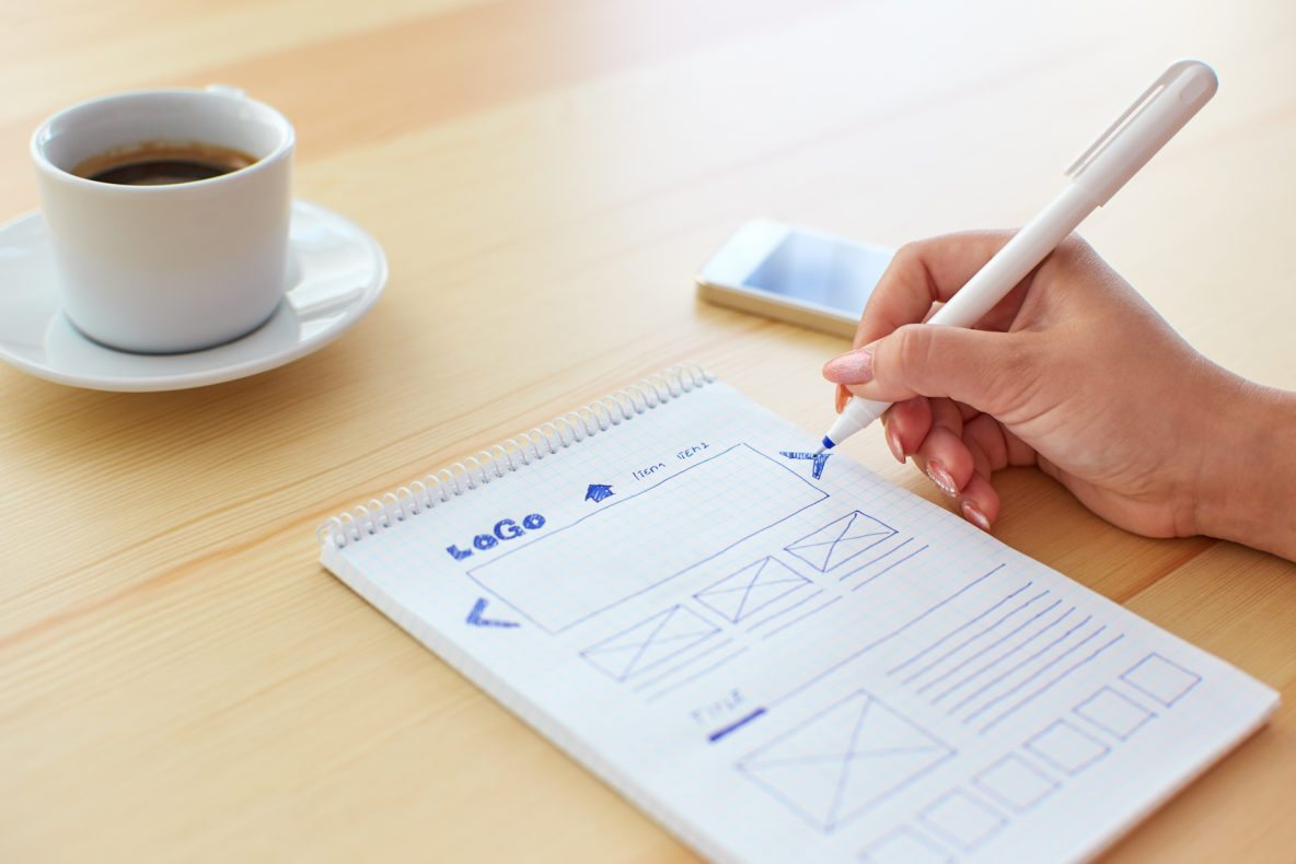 Wireframe Creation to Update a Website by Carte Blanche Media